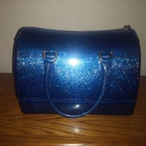 Handbags - Large Blue glitter jelly bag